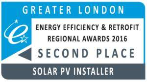 Greater London Energy Efficiency and Retrofit Awards Solar PV Installer of the Year 2nd place