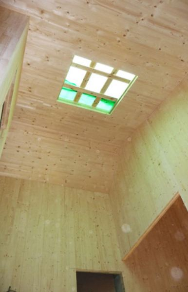 Future spacing of the skylight in the cross-laminated timber structure
