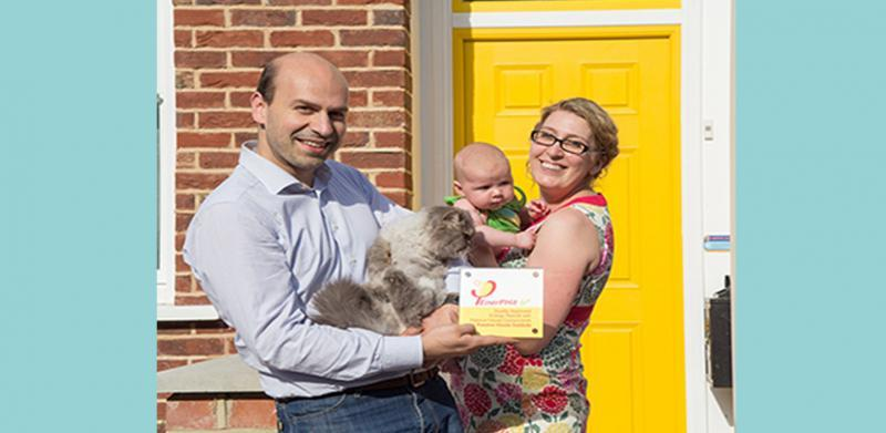 The happy family at London's first certified EnerPHit Eco Home