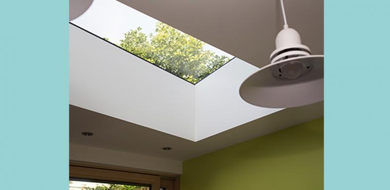 Beautiful skylight in London's first certified EnerPHit Eco Home