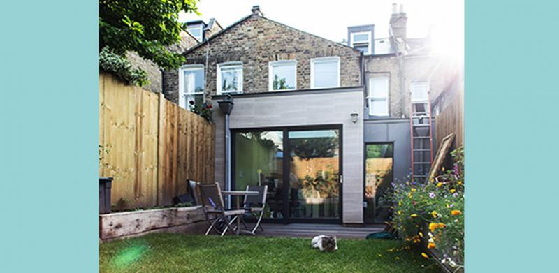 Garden view of London's first certified EnerPHit eco-home