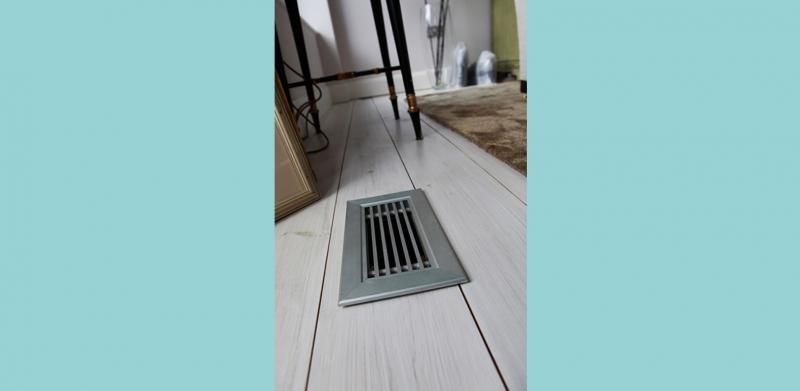 Floor grilles provide the bedrooms with fresh air