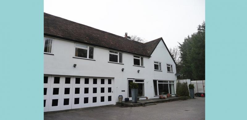 The front view of the house prior to refurbishment