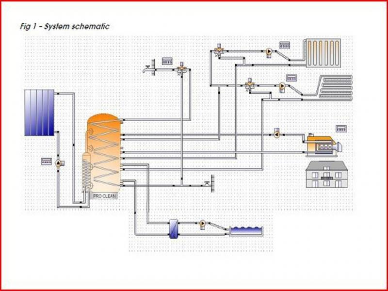 Schematic of the low energy heating system at the Hampstead property