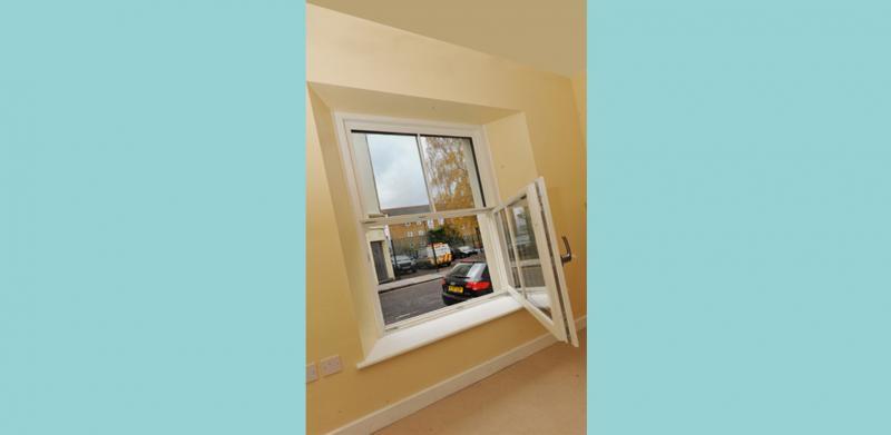 Internal view of the tilt-and-turn Passisash triple-glazed windows