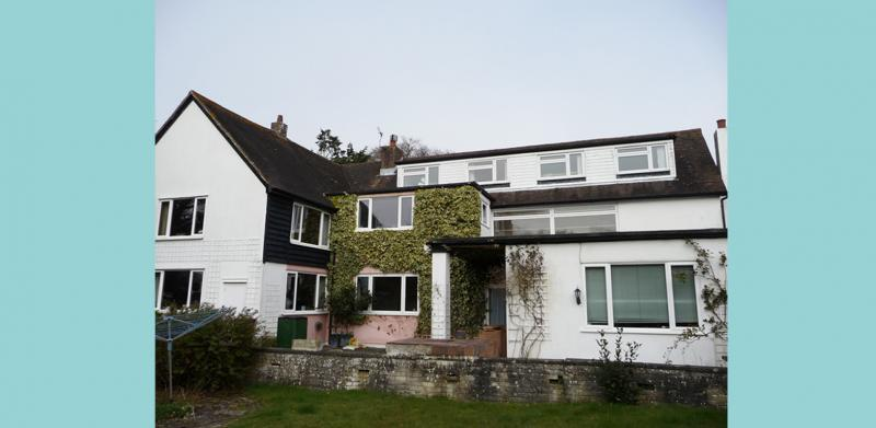 The rear view of the house prior to refurbishment