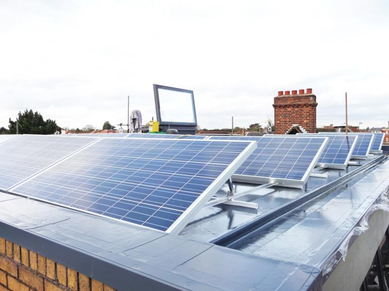 Solar PV Panels at the Thames Ditton property