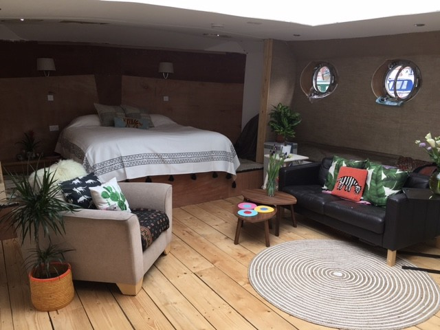 Boat Interior in the master bedroom