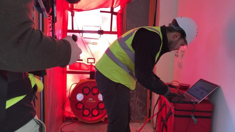 Airtightness testing to Passivhaus standards