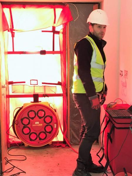 Enhabit performed the airtightness testing - the building got 0.5 ACH on its first try