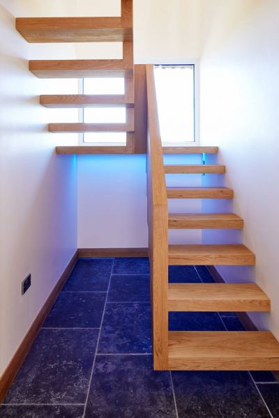 Ringmer Passivhaus staircase lighting